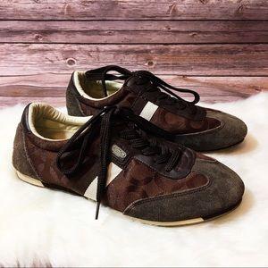 Coach brown tennis shoes